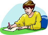 femme ecrit