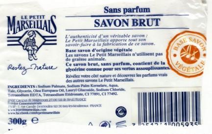 ingred-savon